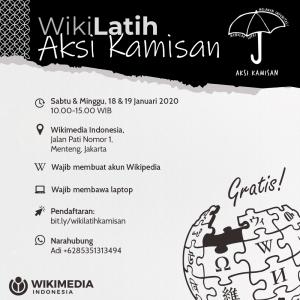 WikiLatih bersama Aksi Kamisan @ Ruang kerja bersama Wikimedia Indonesia