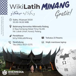 WikiLatih Minang @ Balairuang Komunitas Wikimedia Padang