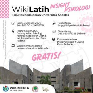 WikiLatih bersama Insight Psikologi @ Ruang kelas 1A Gedung Psikologi Fakultas Kedokteran Universitas Andalas